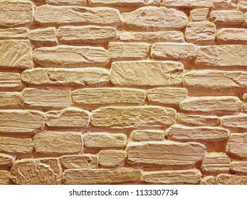 Full Frame Background of Decorative Brick Wall
