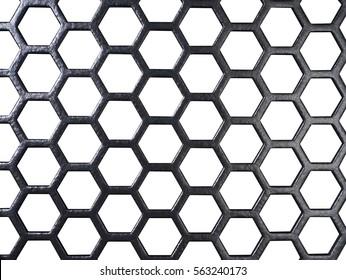 full frame black grid in white back