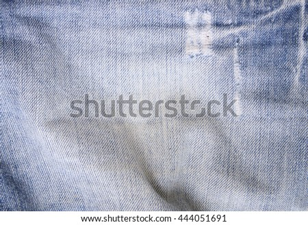 full frame close distressed blue denim stock photo edit now