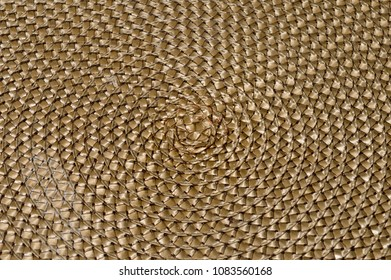 Full frame closeup view of some woven wicker.
