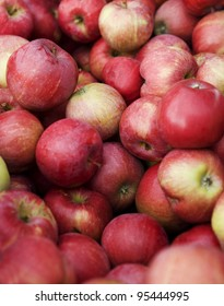 Full Frame of Red Apples