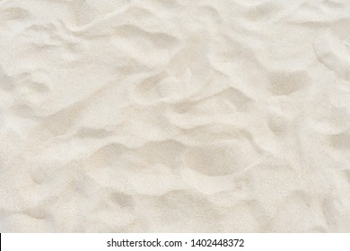 Full frame shot. Close up sand texture on beach in summer.