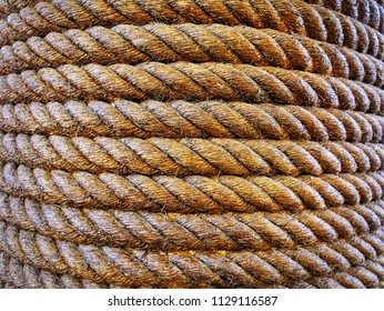 Full Frame Texture Background of Curved Ropes