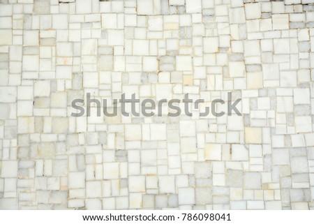 Full Frame White Floor Marble Mosaic Stock Photo (Edit Now ...