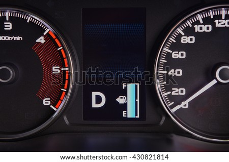 Full Fuel Symbol On Dashboard Type Stock Photo Edit Now 430821814