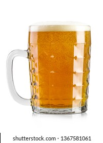 full glass of beer. Isolated on white background. file contains clipping path