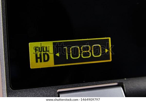 Full Hd 1080 1080p Sticker Logo Stock Photo Edit Now 1464909797