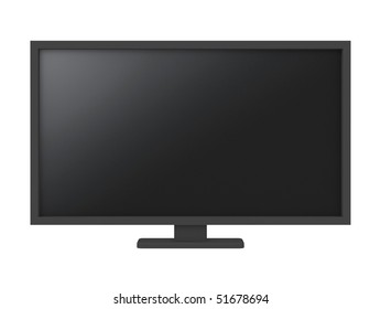 full hd screens isolated on white - 3d illustration