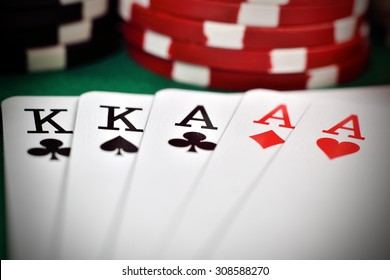 full house, two kings and three aces