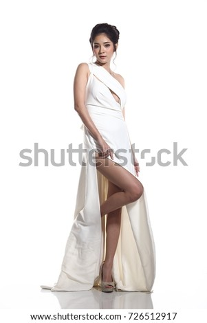Full Length Body Evening Gown Ball Stock Photo (Edit Now) 726512917 ...