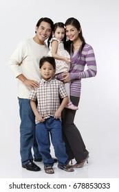 full length of family portrait
