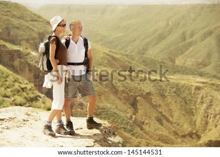 Full length of hiking