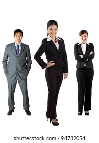 Full length image of Chinese business people