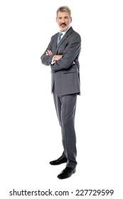 Full length image of confident businessman