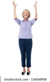 Full length image of a happy senior citizen