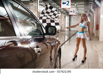 Local Car Wash >> Race Flag Girl Images, Stock Photos & Vectors | Shutterstock