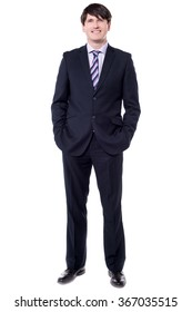 Full length picture of a successful businessman