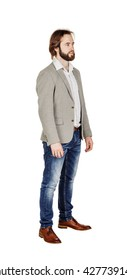 full length portrait of a business man. image on a white studio background.