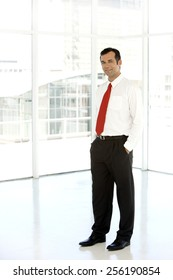 Full length portrait of a Caucasian business executive man