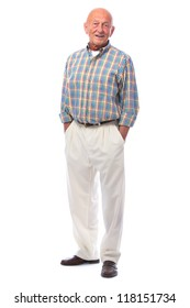 Full length portrait of handsome senior man standing