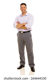 full length portrait of mid age man with arms crossed