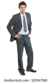 Full length portrait of modern businessman