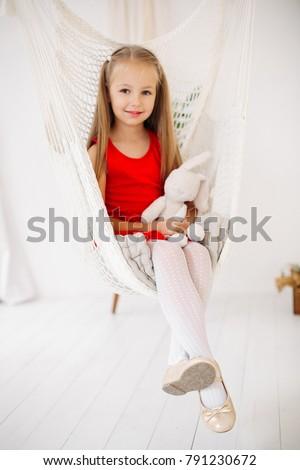 e552390bbbe5 Full Length Portrait Pretty Little Girl Stock Photo (Edit Now ...