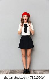 teen girl in skirt