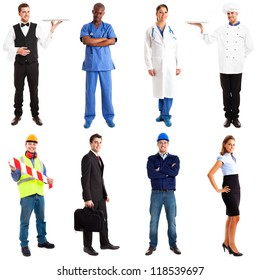 Full length portraits of workers