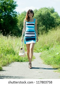 Full length shot of girl  in summer