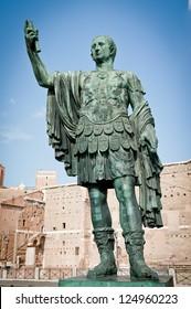 Full Length Statue of Gaius Julius Caesar, Rome, Italy