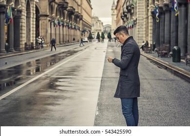 Men Smoking Outdoor Images, Stock Photos & Vectors