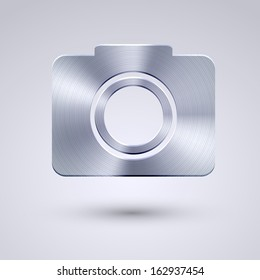 full metal icon on blue background.