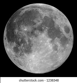 Full Moon 2004-11-26 - Highly detailed image of the full Moon taken with a 0.2-metre telescope