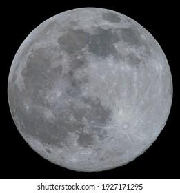 Full Moon -  26th of Feb 2021 color enhanced