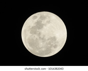 Full Moon after Lunar eclipse on 31st Dec 2018 at 22:53 IST, Vadodara, Gujarat State, India