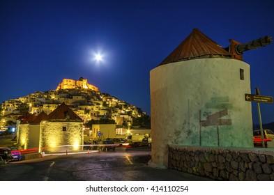 Full moon in Astypalaia island Greece