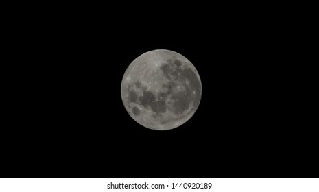 Full moon at clear night