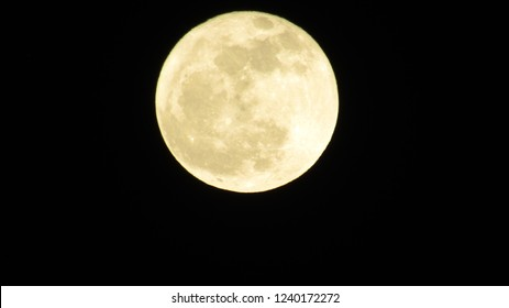 full moon in the clear night sky and isolated on transparent background. natural moon