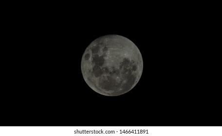 Full moon in a clear sky night
