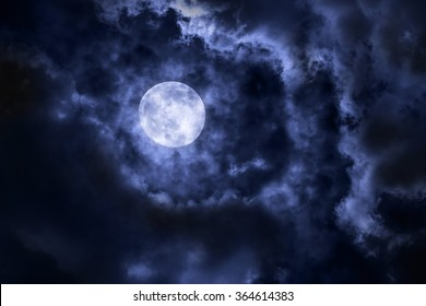 Full Moon with cloud at night