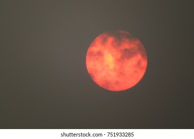 Full moon during the BC wildfires of twenty seventeen