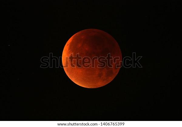 Full moon eclipse at it's maximum