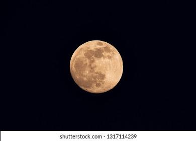 Full moon  image at night.