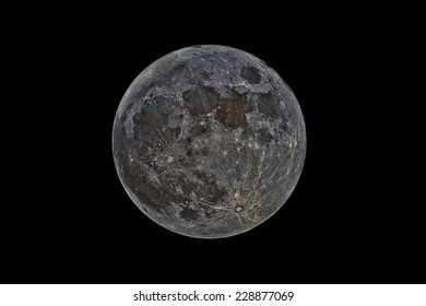 Full Moon Imaged with Narrow Band Filters