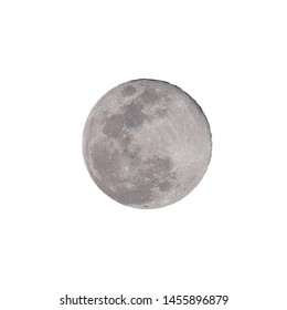 Full moon isolated over white background (Clipping path)
