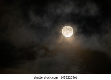 Full moon light and Clouds