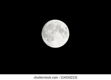 Full moon on the dark