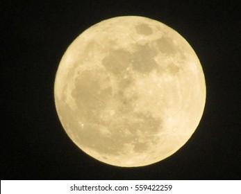Full moon on the night sky.