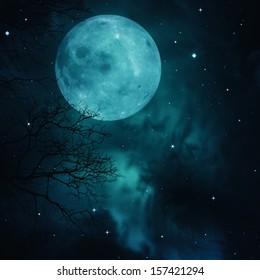 Full Moon on the skies, abstract natural backgrounds